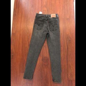 Levi's wedgie skinny gray denim button fly jeans